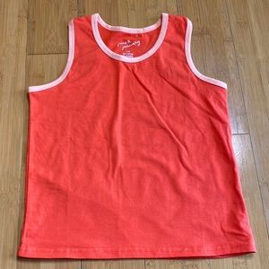 June & January Racer Tank Color Block Poppy 5/6